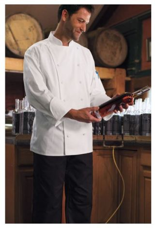 Chef Coat with 12 Cloth Covered Buttons