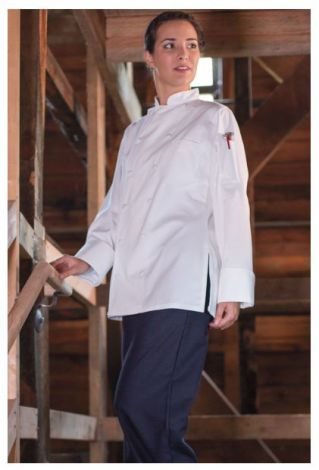 Ladies White Executive Chef Coat