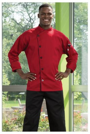 Red Panama Chef Coat