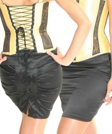 Pencil Skirt with Laced Back