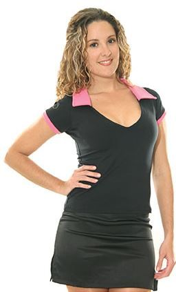 V-Neck with Pink Collar