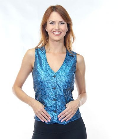Blue Metallic Vest