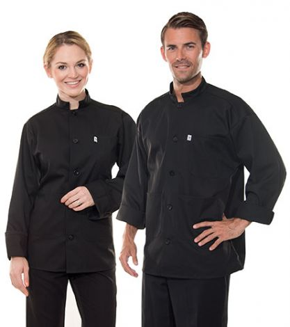 Black Single Breasted Server Coats