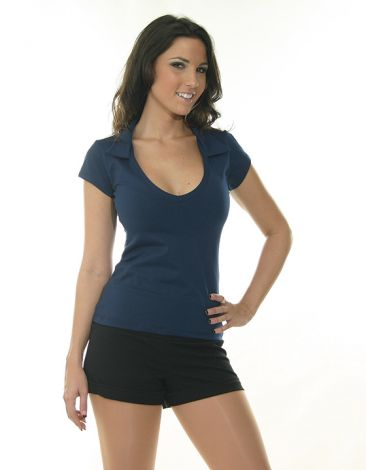 Navy V-Neck Top