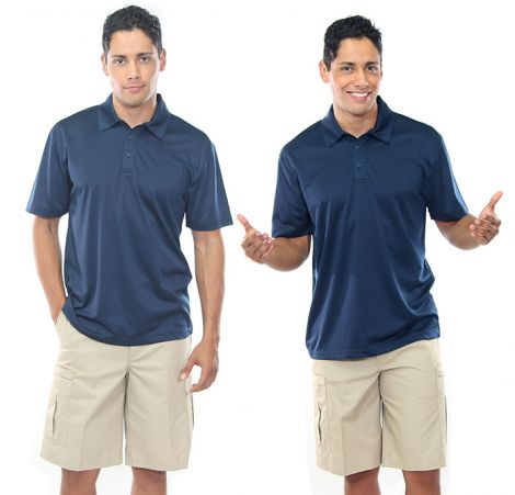 Navy Polo and Chino Cargo Shorts