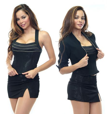 Black Stretch Satin Bodice