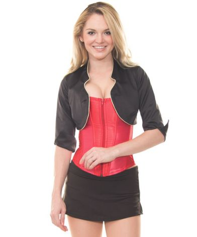 Red Corset with Cropped Bolero