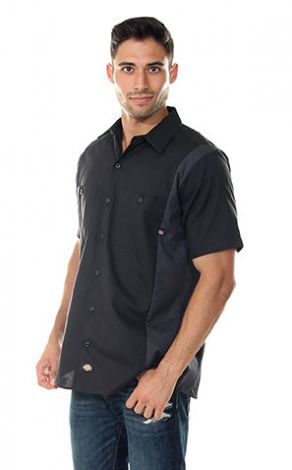 Black and Charcoal Industrial Dickies Shirt