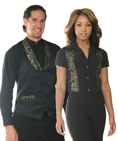 Vest with Gold Brocade