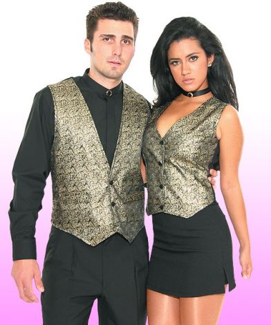 Gold Metallic Vests