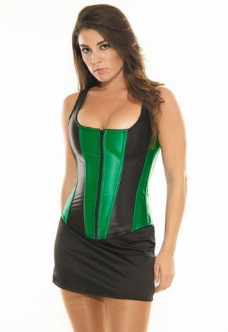 Emerald and Black Corset