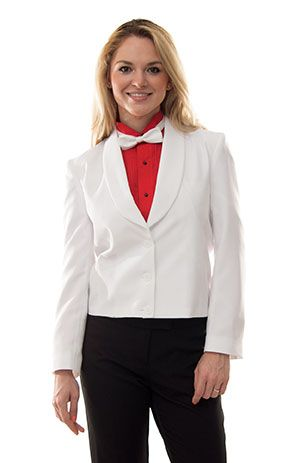 Ladies White Eton Jacket