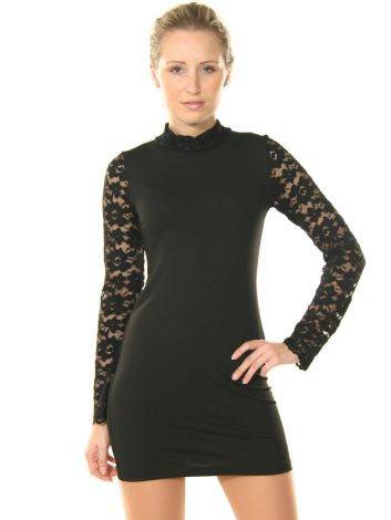 Mock Turtleneck Dress