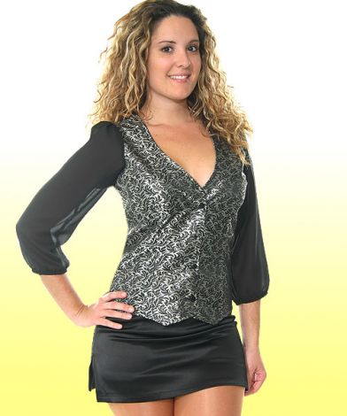 Vest with Georgette Sleeves