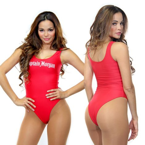 Red Dri-Fit Swimsuit
