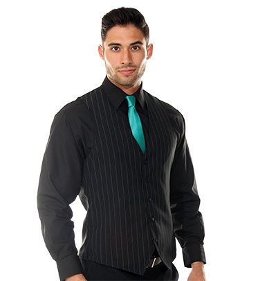 Pinstripe Slim Fit Vest