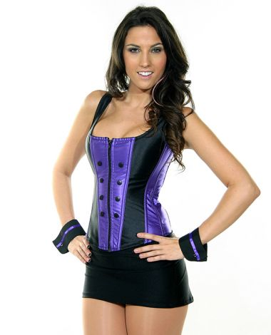 Tuxedo Corset with Cuffs