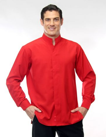 Hospitality Shirt with Mandarin Collar