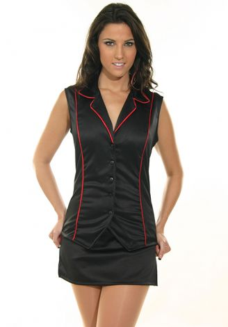 Vest with Red Piping
