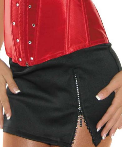 Skirt with Rhinestone Zipper