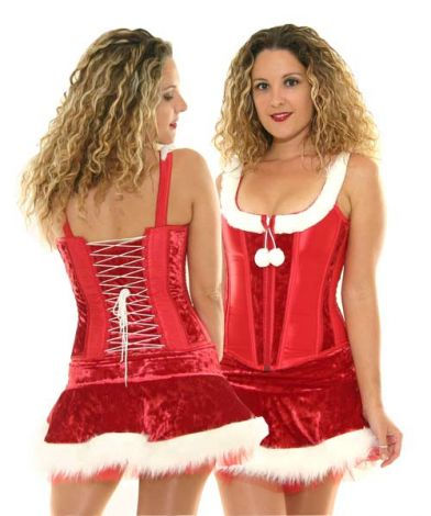 Red Winter Wonderland Corset